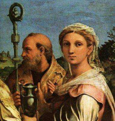 Santa Cecilia Raffaello icona