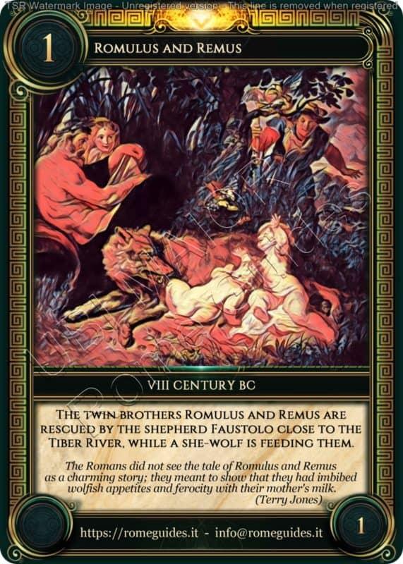 Ubi Maior Rome Card Romulus and Remus, Ubi Maior – Card 01, Rome Guides