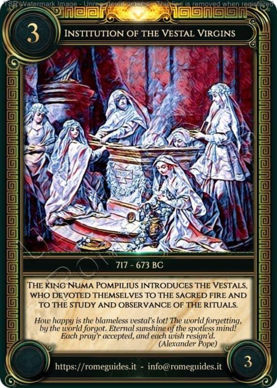 Ubi Maior Rome Card Institution Vestal Virgins, Ubi Maior – Card 03, Rome Guides