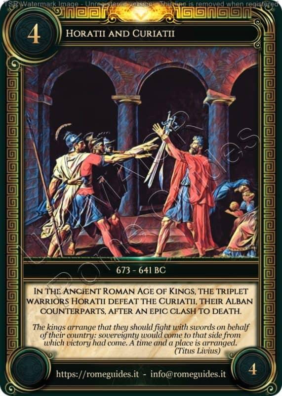 Ubi Maior Rome Card Horatii and Curiatii, Ubi Maior – Card 04, Rome Guides