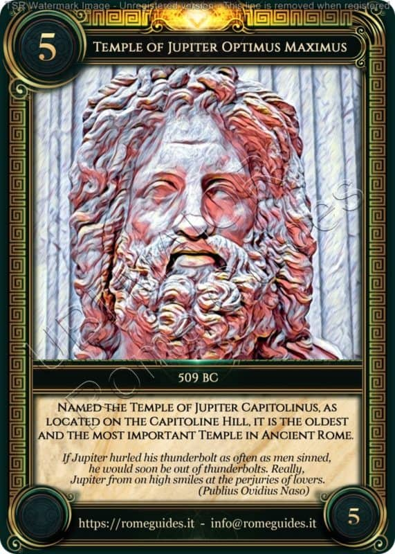 Ubi Maior Rome Card Temple Jupiter Optimus Maximus, Ubi Maior – Card 05, Rome Guides