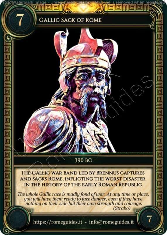 Ubi Maior Rome Card Gallic Sack of Rome, Ubi Maior – Card 07, Rome Guides