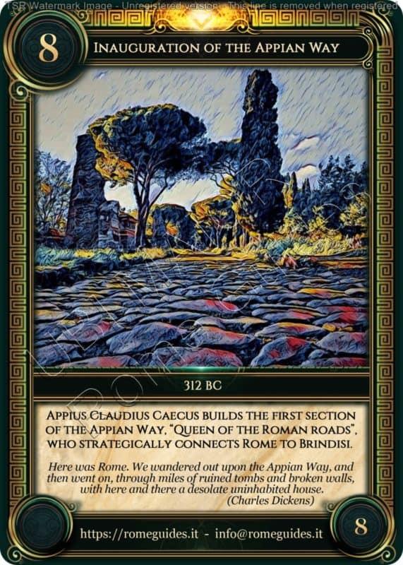 Ubi Maior Rome Card Inauguration Appian Way, Ubi Maior – Card 08, Rome Guides