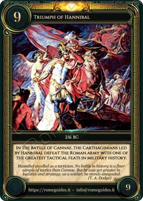 Ubi Maior Rome Card Triumph of Hannibal, Ubi Maior – Card 09, Rome Guides