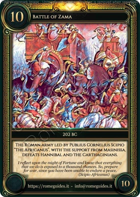 Ubi Maior Rome Card Battle of Zama, Ubi Maior – Card 10, Rome Guides