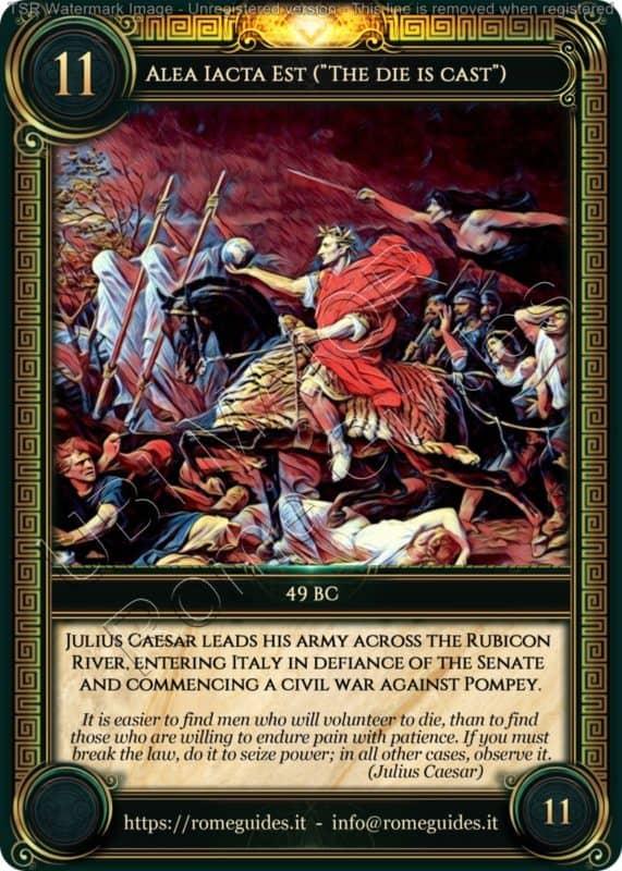 Ubi Maior Rome Card Alea Iacta Est, Ubi Maior – Card 11, Rome Guides