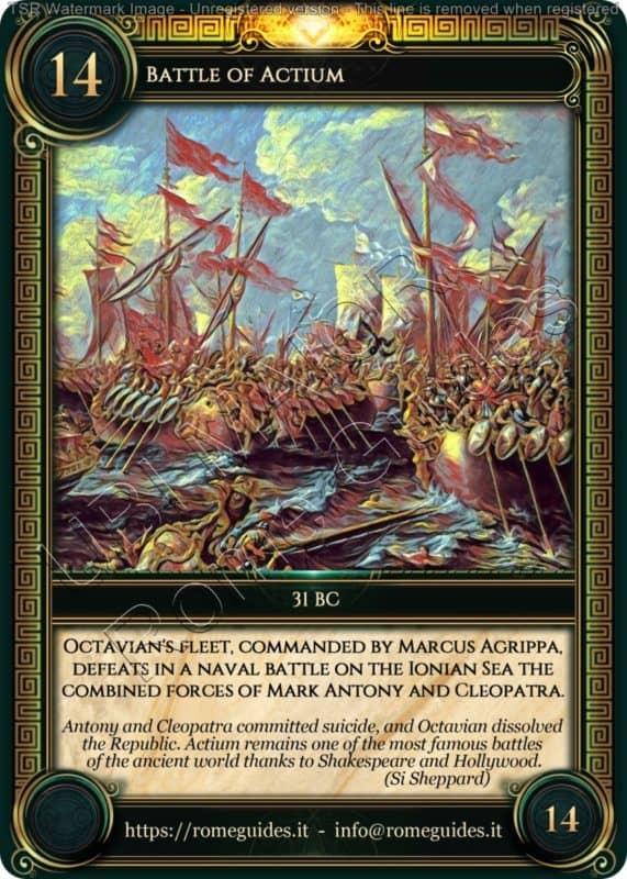 Ubi Maior Rome Card Battle of Actium, Ubi Maior – Card 14, Rome Guides
