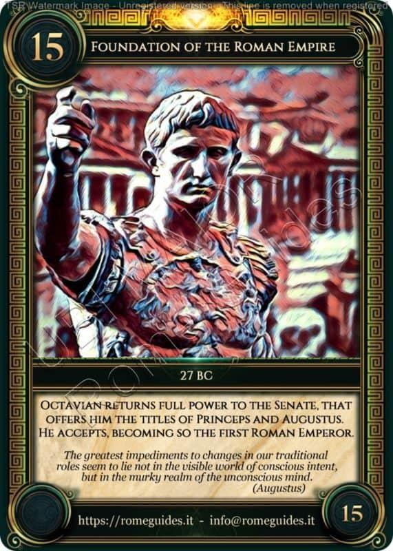 Ubi Maior Rome Card Foundation of the Roman Empire, Ubi Maior – Card 15, Rome Guides