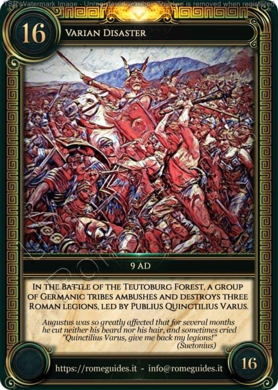Ubi Maior Rome Card Varian Disaster, Ubi Maior – Card 16, Rome Guides