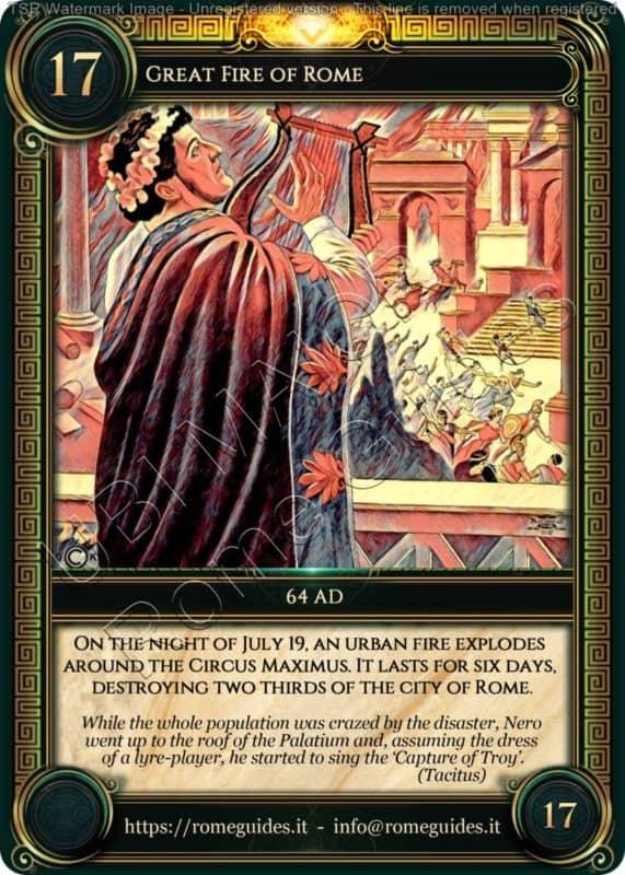 Ubi Maior Rome Card Great Fire of Rome, Ubi Maior – Card 17, Rome Guides