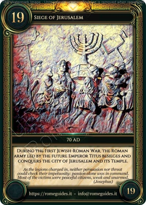 Ubi Maior Rome Card Siege of Jerusalem, Ubi Maior – Card 19, Rome Guides