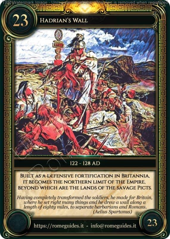 Ubi Maior Rome Card Hadrian Wall, Ubi Maior – Card 23, Rome Guides