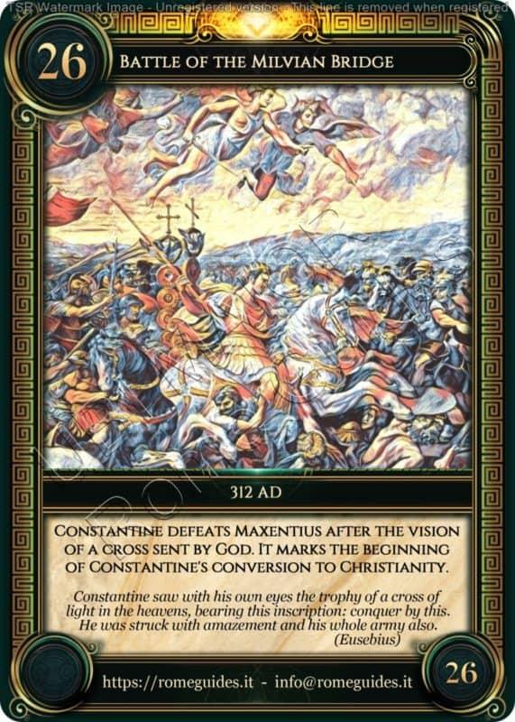 Ubi Maior Rome Card Battle Milvian Bridge, Ubi Maior – Card 26, Rome Guides