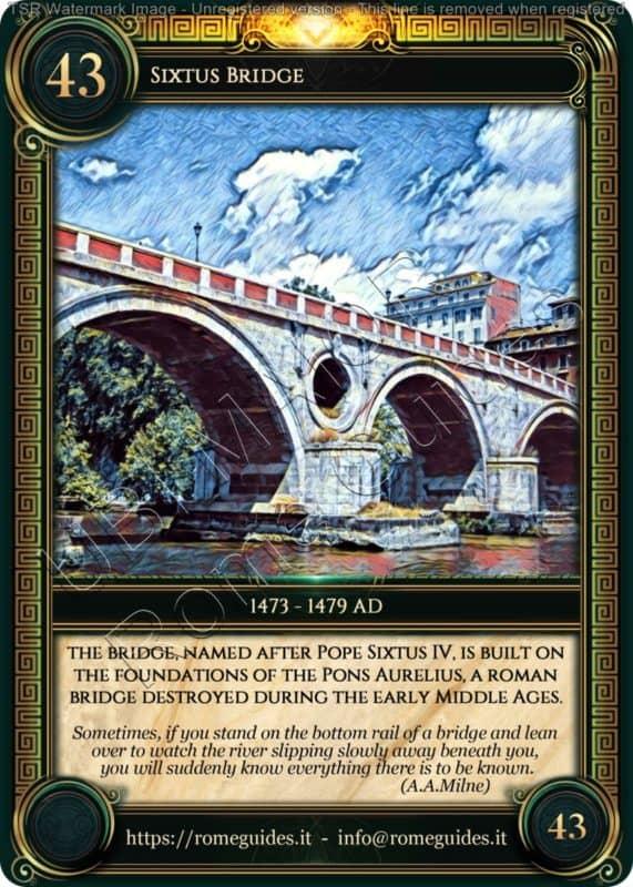 Ubi Maior Rome Card Sixtus Bridge, Ubi Maior – Card 43, Rome Guides