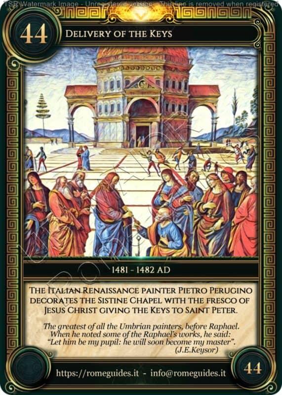 Ubi Maior Rome Card Delivery of the Keys, Ubi Maior – Card 44, Rome Guides