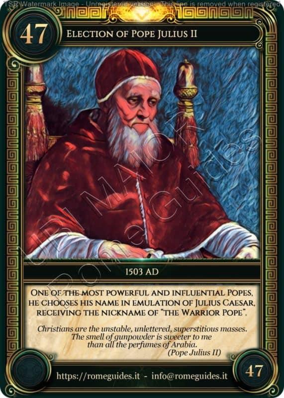 Ubi Maior Rome Card Election Pope Julius II, Ubi Maior – Card 47, Rome Guides