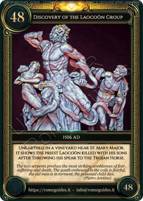 Ubi Maior Rome Card Discovery Laocoon Group, Ubi Maior – Card 48, Rome Guides