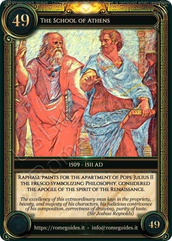 Ubi Maior Rome Card School of Athens, Ubi Maior – Card 49, Rome Guides