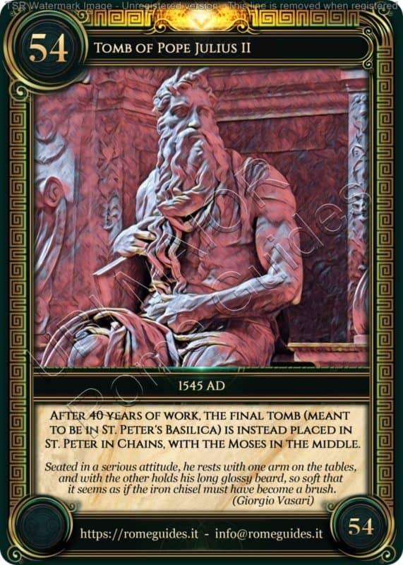 Ubi Maior Rome Card Tomb Julius II, Ubi Maior – Card 54, Rome Guides