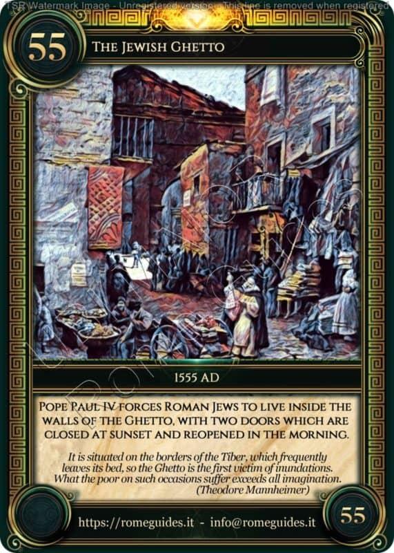 Ubi Maior Rome Card Jewish Ghetto, Ubi Maior – Card 55, Rome Guides