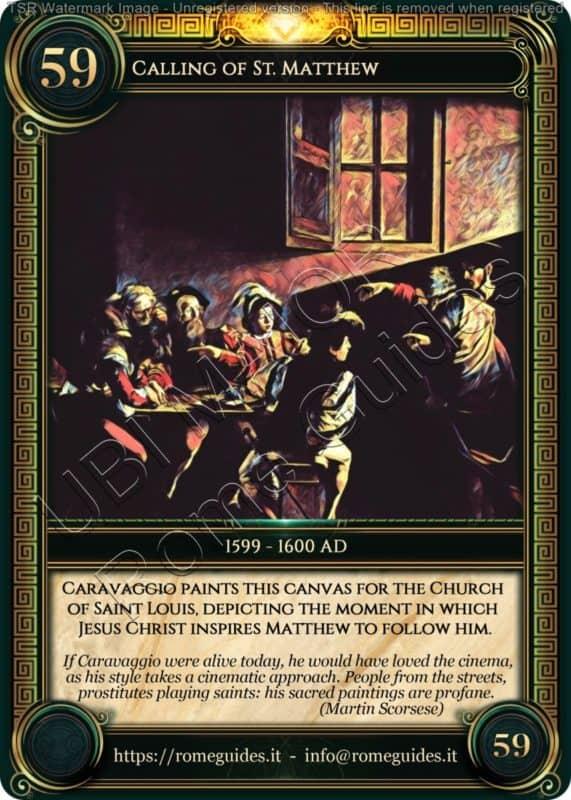 Ubi Maior Rome Card Calling Saint Matthew, Ubi Maior – Card 59, Rome Guides