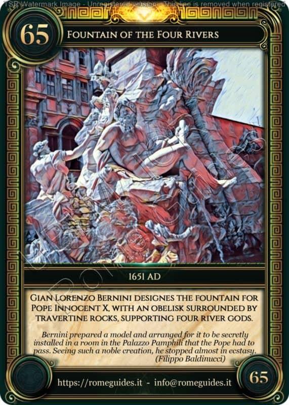 Ubi Maior Rome Card Fountain Four Rivers, Ubi Maior – Card 65, Rome Guides