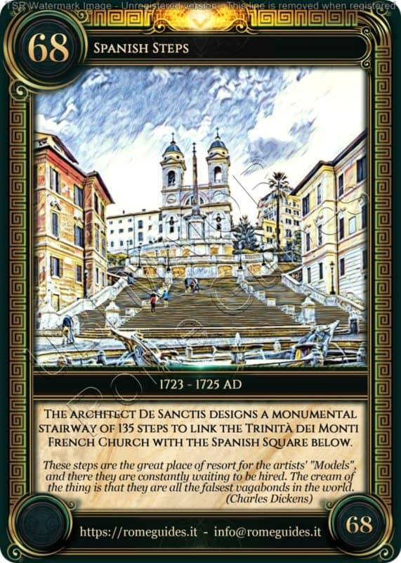Ubi Maior Rome Card Spanish Steps, Ubi Maior – Card 68, Rome Guides