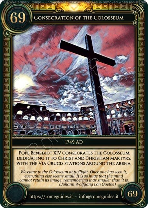 Ubi Maior Rome Card Consecration of the Colosseum, Ubi Maior – Card 69, Rome Guides