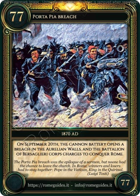 Ubi Maior Rome Card Porta Pia Breach, Ubi Maior – Card 77, Rome Guides