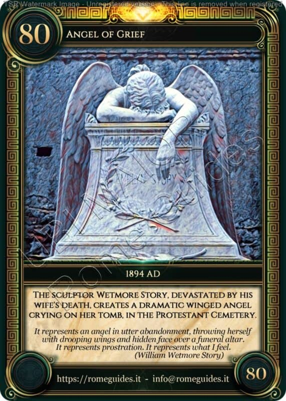Ubi Maior Rome Card Angel of Grief, Ubi Maior – Card 80, Rome Guides