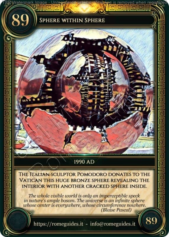 Ubi Maior Rome Card Sphere within Sphere, Ubi Maior – Card 89, Rome Guides