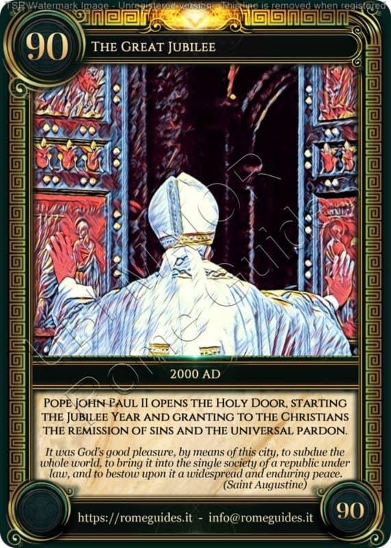 Ubi Maior Rome Card Great Jubilee, Ubi Maior – Card 90, Rome Guides