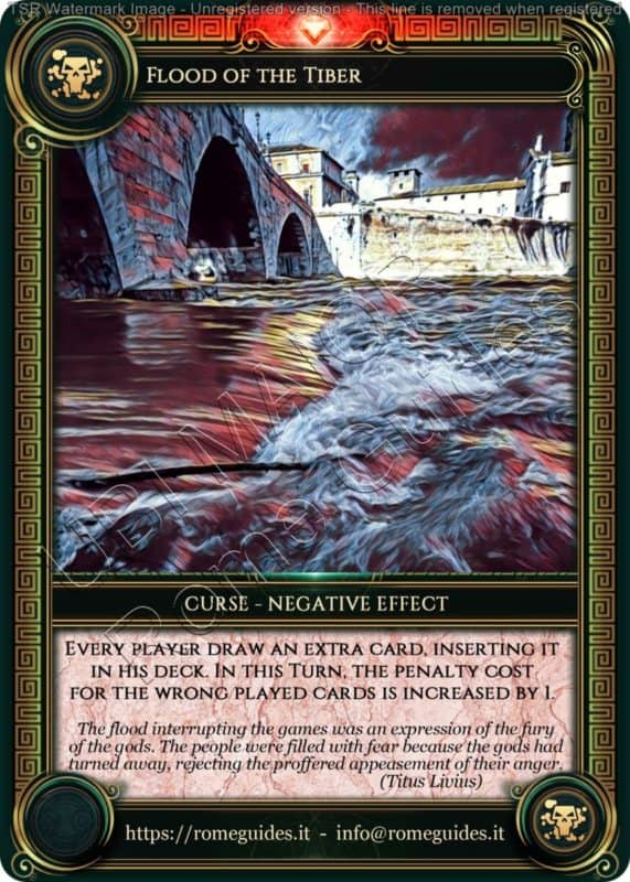 Ubi Maior Curse Card Flood Tiber, Ubi Maior – Curse Card 01, Rome Guides
