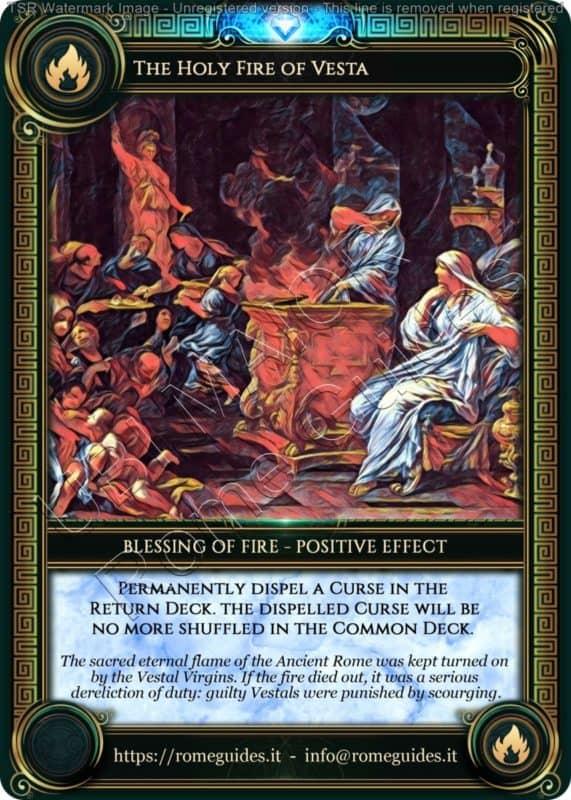 Ubi Maior Blessing Card Holy Fire Vesta, Ubi Maior – Blessing Card 10, Rome Guides