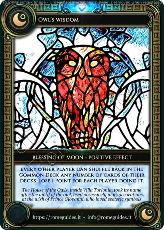 Ubi Maior Blessing Card Owl Wisdom, Ubi Maior – Blessing Card 04, Rome Guides