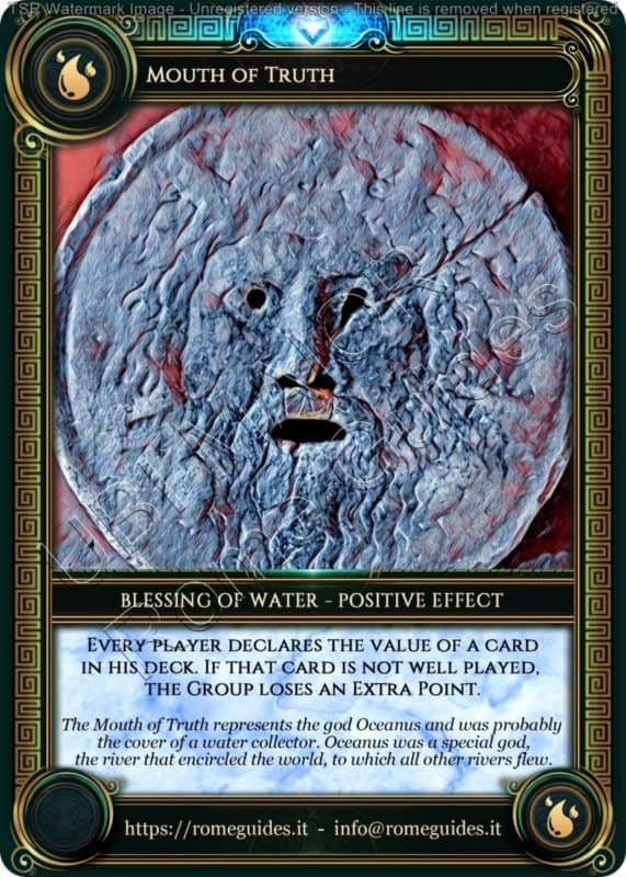 Ubi Maior Blessing Card Mouth of Truth, Ubi Maior – Blessing Card 05, Rome Guides