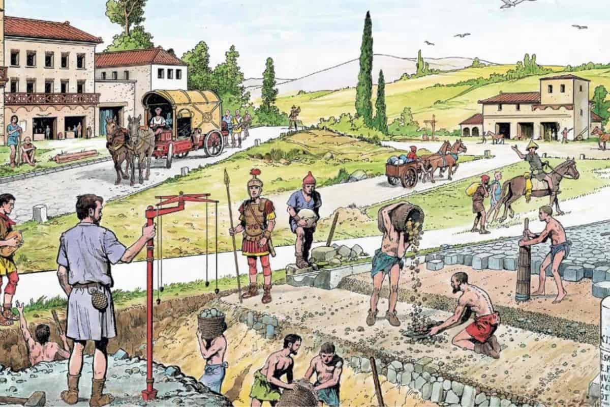 La moda nell'Antica Roma, Le strade nell'Antica Roma (1/3), Rome Guides