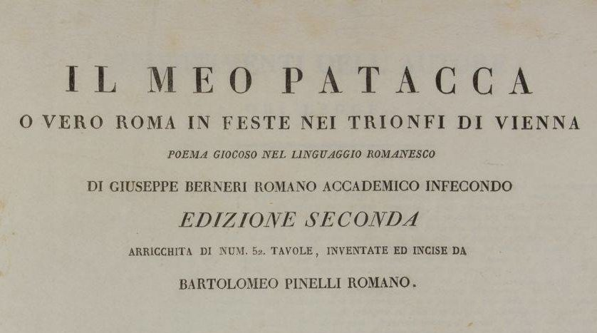 La fama di Meo Patacca, La fama di Meo Patacca, Rome Guides